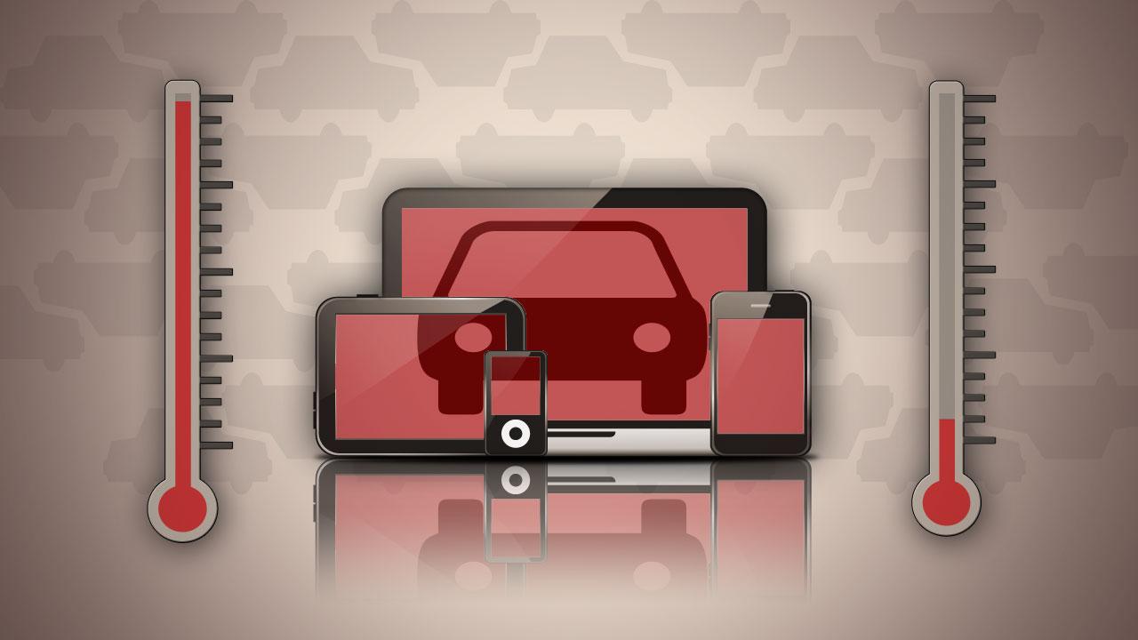 Можно ли оставлять гаджеты в машине при отрицательной температуре на улице или в жаркую погоду