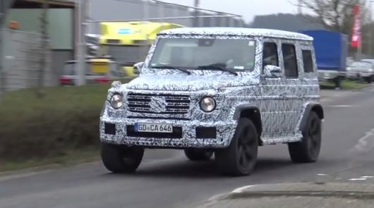 2018 Mercedes G-Class продолжает проходить тестирования Фото, видео