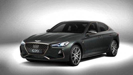 2018 Genesis G70, корейский конкурент BMW 3 Series, с 2018 года в России