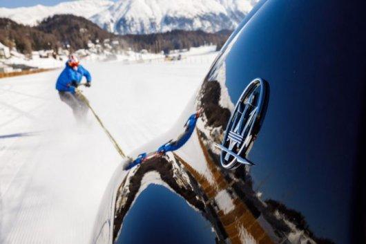 Внедорожник Maserati Levante помог установить рекорд скорости сноуборда