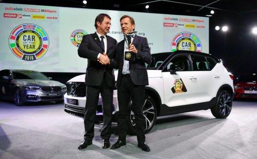 Кроссовер Volvo XC40 стал европейским автомобилем 2018 года