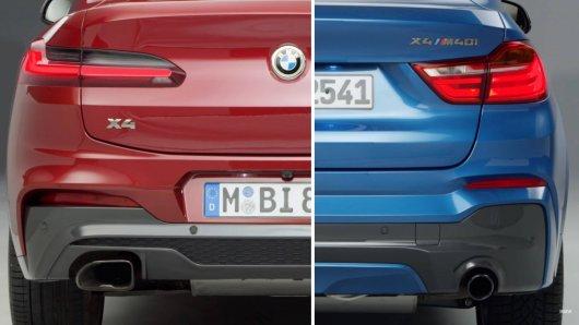 Компания BMW показала на видео изменения в дизайне старого и нового кроссовера Х4