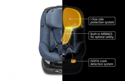 Показано первое в мире автомобильное детское кресло с аэрбегами