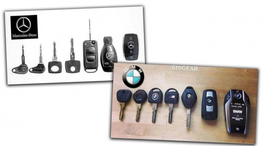 История развития ключа автомобилей Mercedes-Benz BMW
