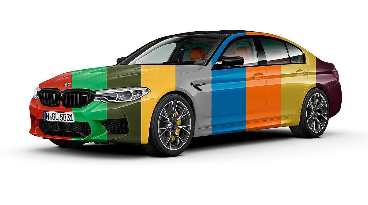 BMW M5 можно заказать в более чем 100 цветах: мы не шутим!