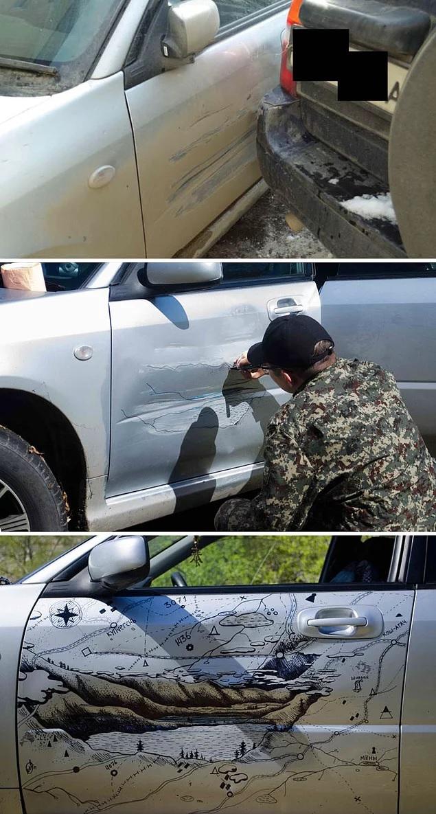 От Чака Норриса до Черепашек ниндзя: как люди украшают свои автомобили после ДТП